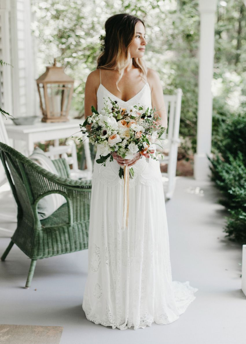 Dress for barn wedding  Jessica  Marc  Rock Quarry Farm Wedding  Chapel Hill  you may