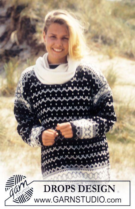 "DROPS 35-11 - Drops Fair Isle Sweater in ""Karisma Superwash ..."