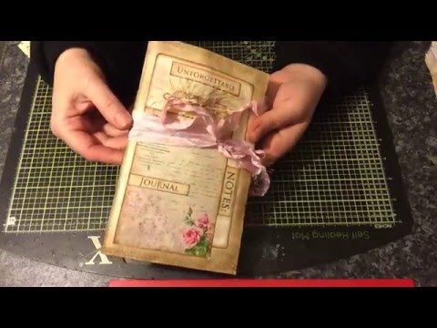 Vintage style Junk Journal - YouTube