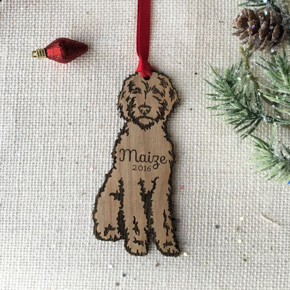 goldendoodle personalized christmas ornament by shop231designs