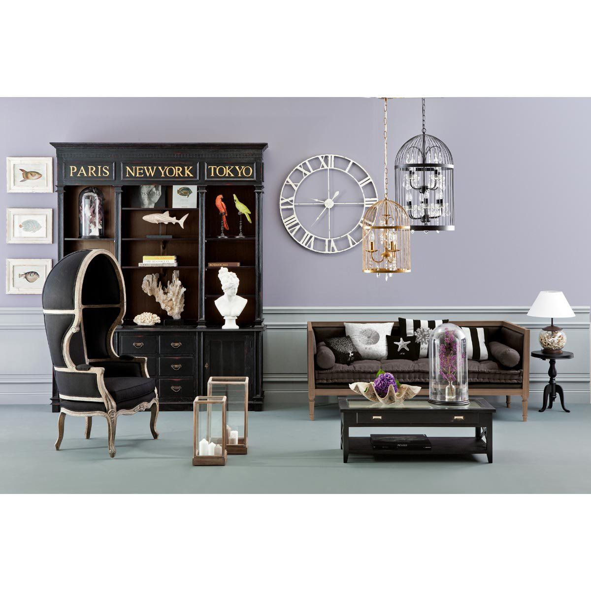 maisons du monde haussmann library 3 office pinterest. Black Bedroom Furniture Sets. Home Design Ideas