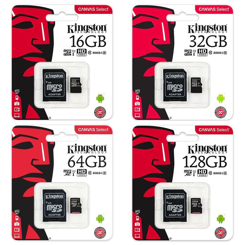 Details over Kingston SDCS 16/32/64/128Go Micro SD Class 10