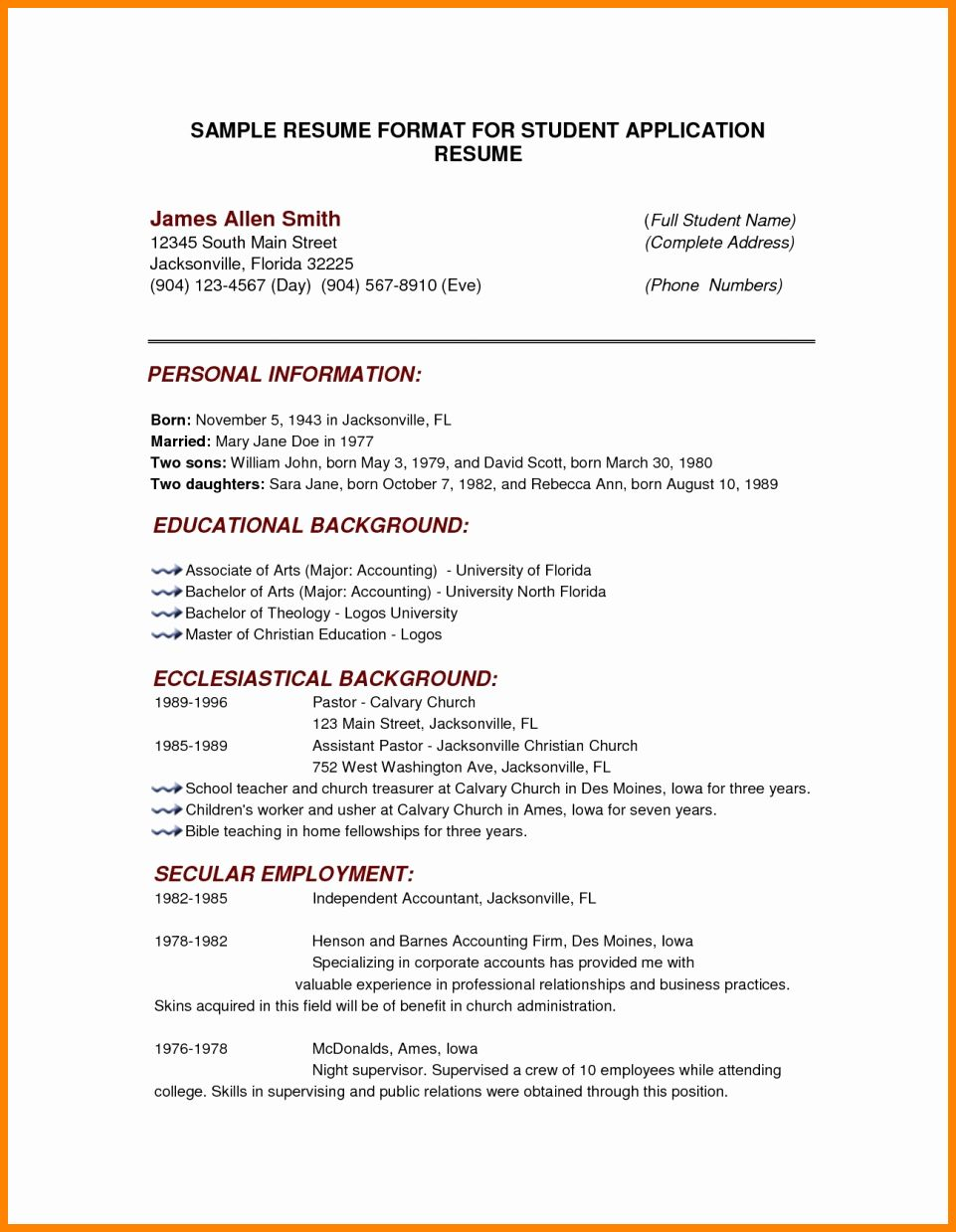 college admissions resume templates inspirational 8