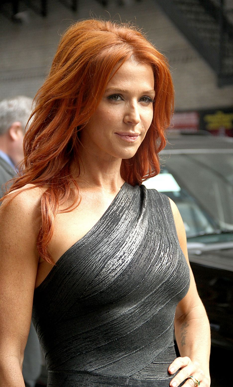 Poppy Montgomery I have a personal love of red-heads in silver & grey. | Elegant & Glam ...