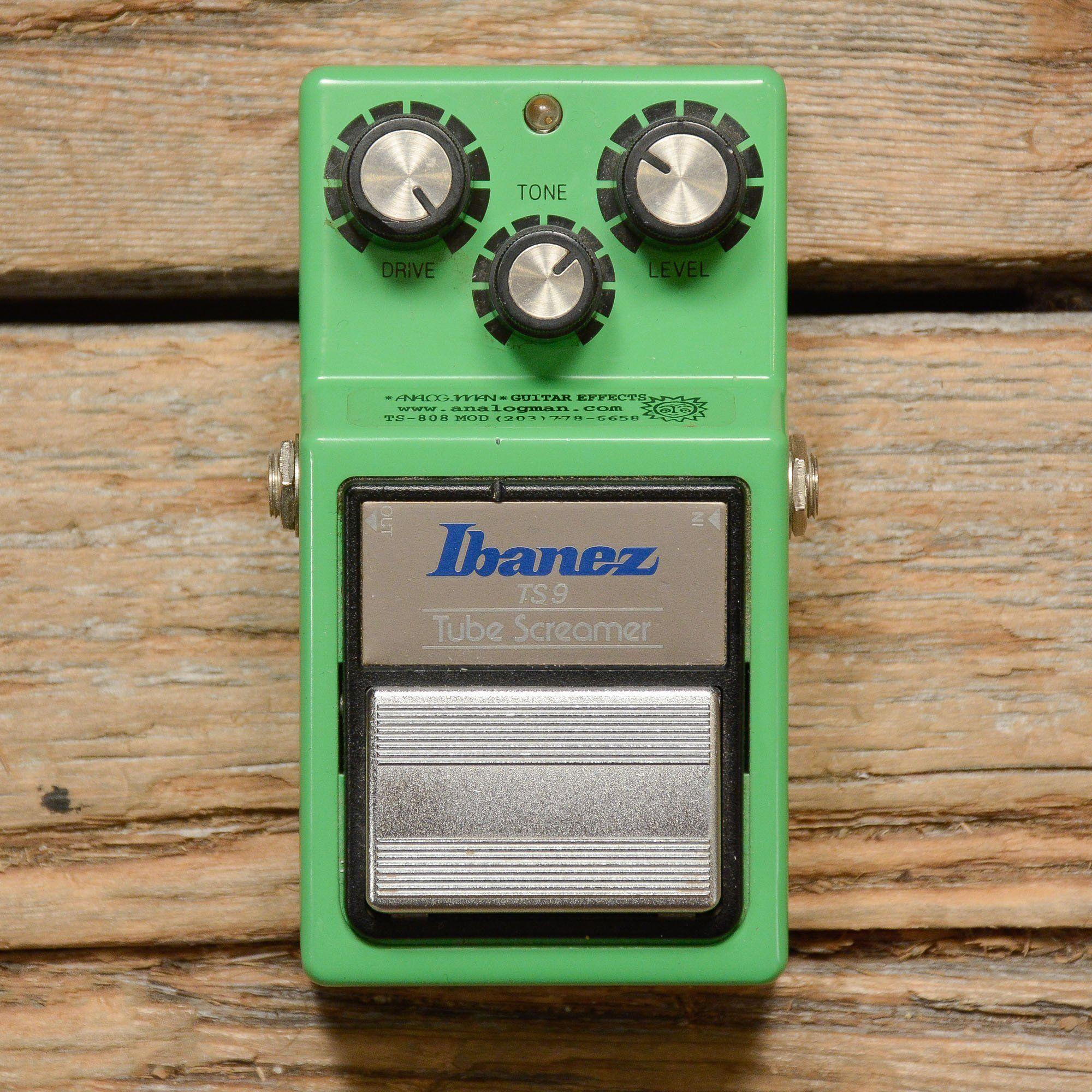 Ibanez TS9 Tubescreamer w/TS-808 Analogman Mod | PedalBoards