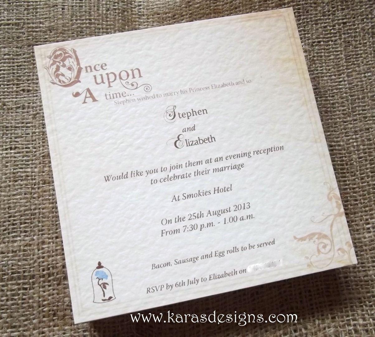 Flat Wedding invites | My Princess Wedding Theme ...
