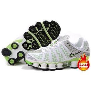 www.asneakers4u.com Womens Nike Shox TL3 White Green