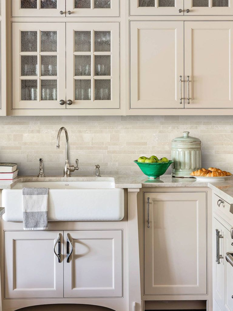 - Light Ivory Travertine Kitchen Subway Backsplash Tile Backsplash