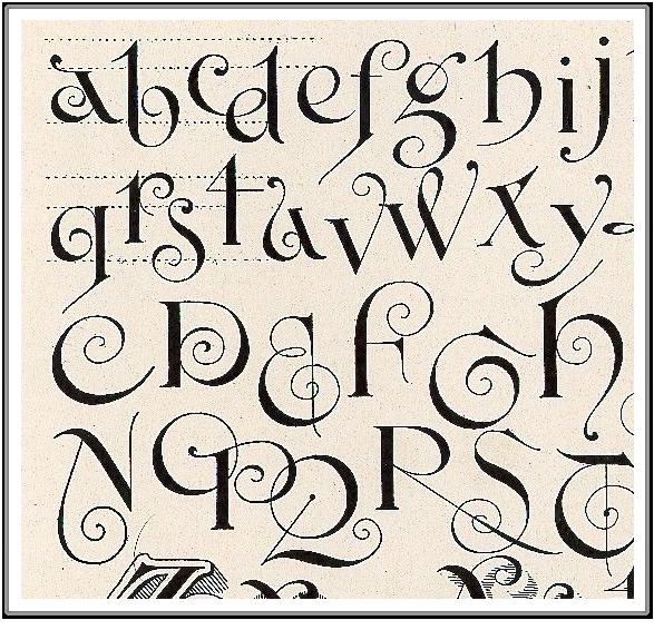 Calligraphy Script Fonts Swirls On Pinterest