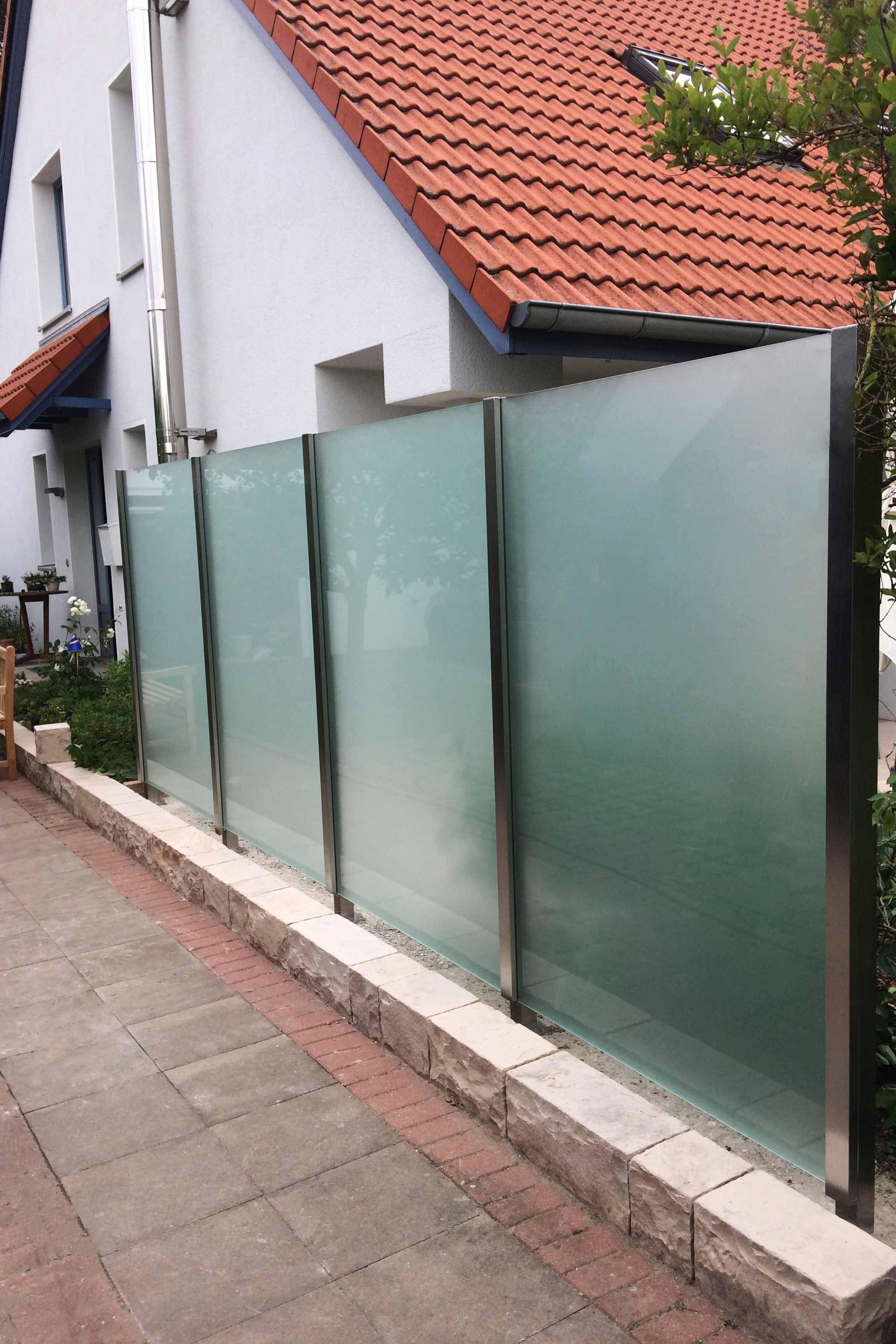 sichtschutz glas edelstahl, glas-edelstahl-sichtschutz densa winddicht bis 2.000 mm höhe, Design ideen