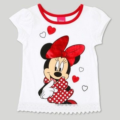 c54f88edb Toddler Girls' Minnie Mouse Top and Bottom Set - White 4T, Toddler Girl's