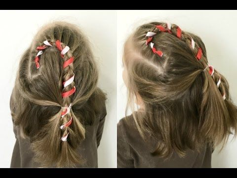 Candy Cane Hairstyle For Short Or Long Hair 12 Braids Of Christmas Youtube Hair Styles Christmas Hairstyles Long Hair Styles