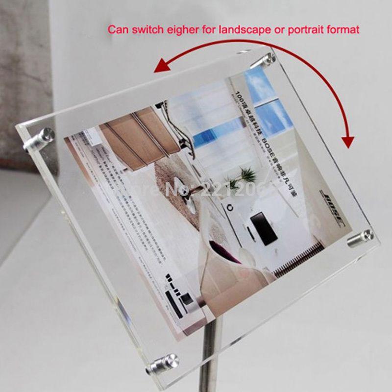 A3 Adjustable Floor Standing Pedestal Sign Holder Floor Stand With