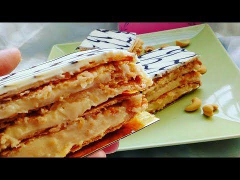 Mille Feuille ميل فوي بطريقة احترافية مثل المخابز الكبرى ميل فوي Youtube Food Bread Matzo