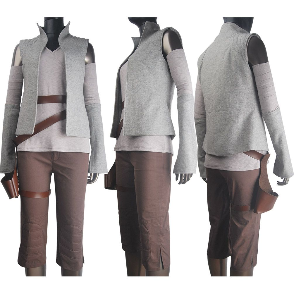 2017 Star Wars The Last Jedi Rey Cosplay Costume Christmas Fancy Dress Outfit