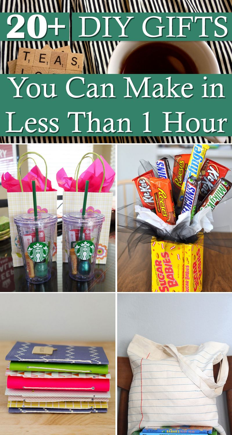 20+ DIY Gifts You Can Make in Less Than 1 Hour Diy