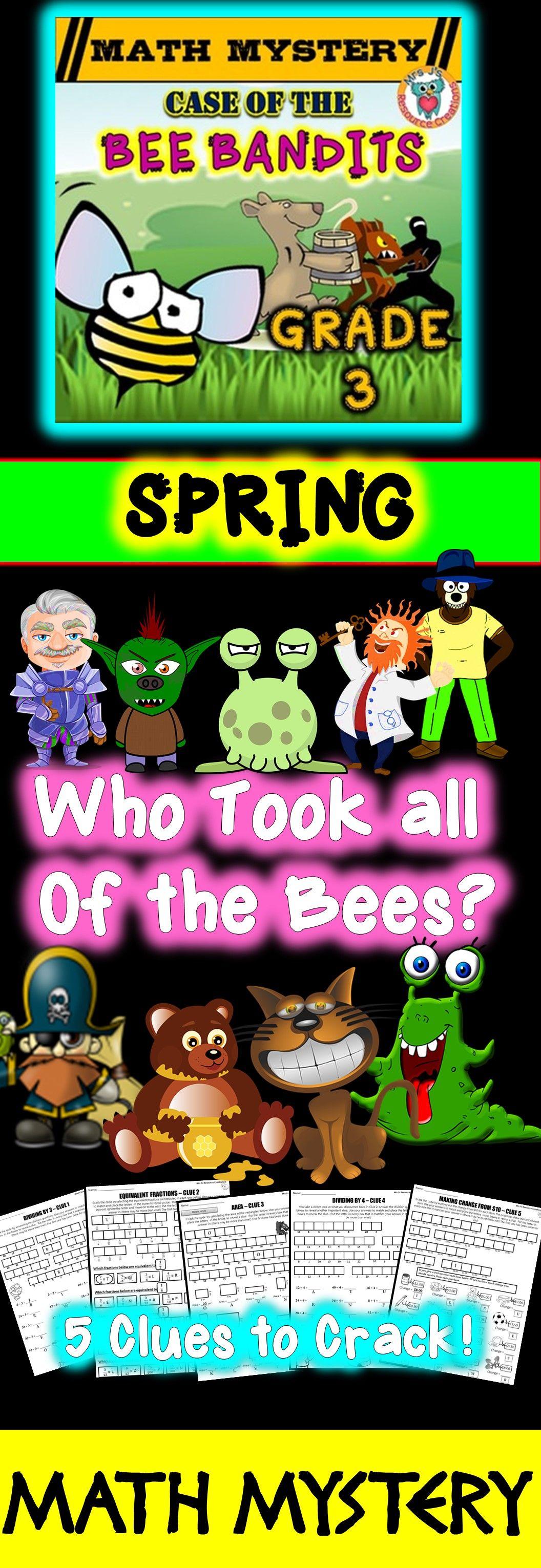 3rd Grade Spring Activity Spring Math Mystery