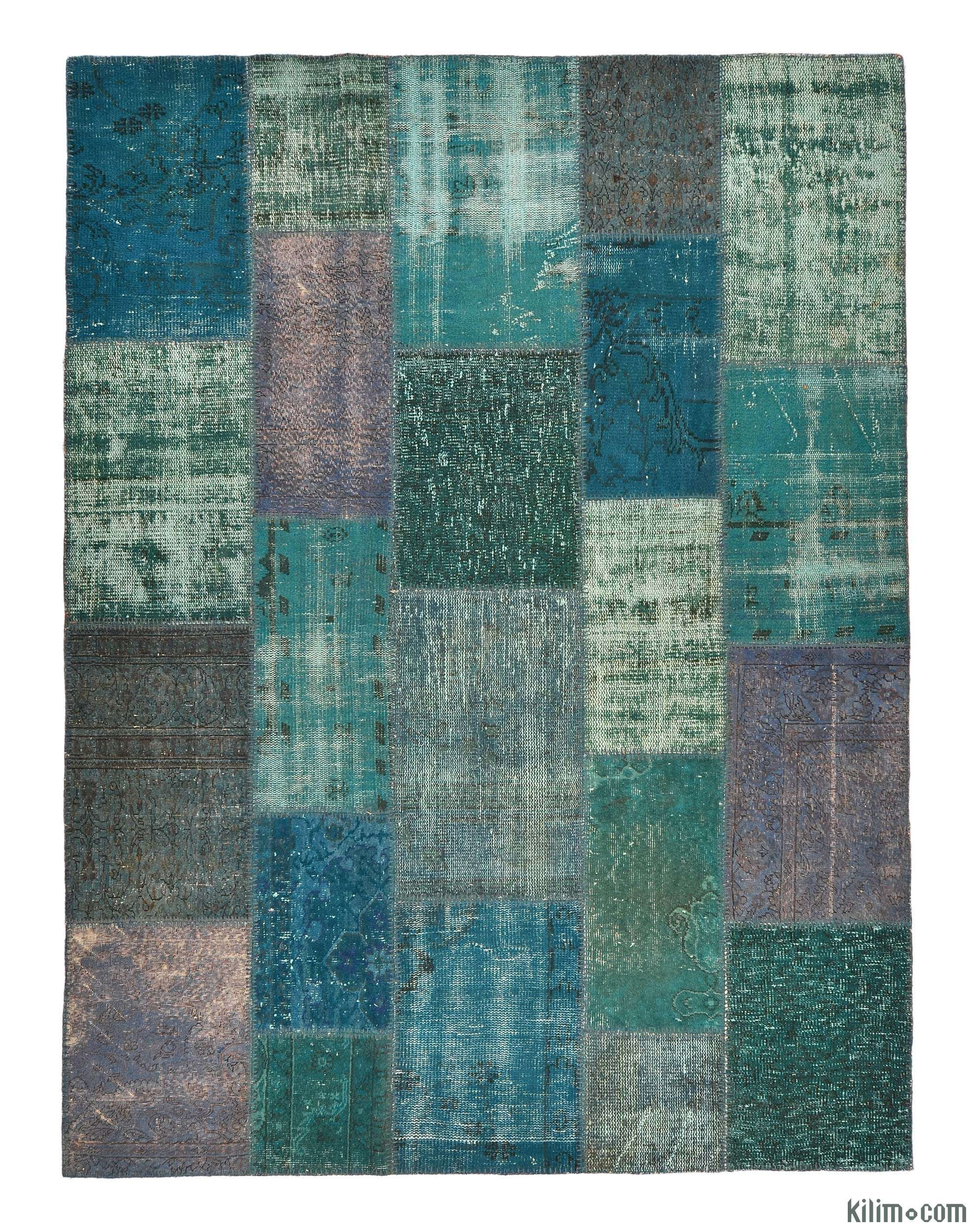K0005775 Over Dyed Turkish Patchwork Rug | Kilim Rugs, Overdyed Vintage Rugs,  Hand