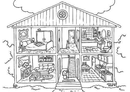 Dibujos de Casas para Imprimir y Colorear | Proyectos que intentar
