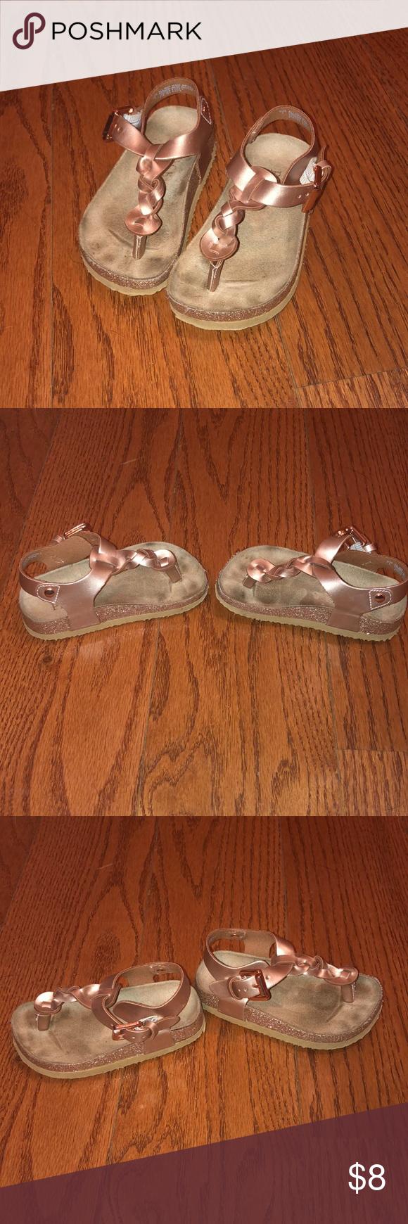 3/$10 Children's place rose gold sandals
