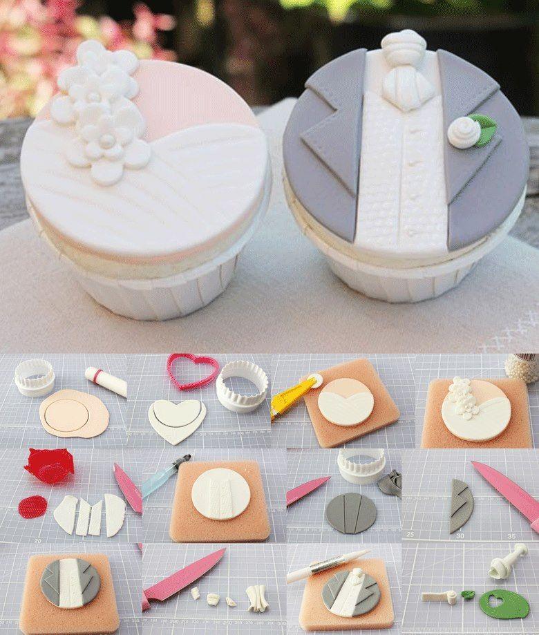 Cupcakes Novio Y Novia Que Lo Disfruten
