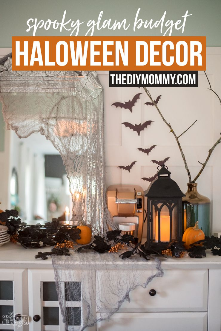 Spooky Glam Halloween Decor Ideas on a Bud