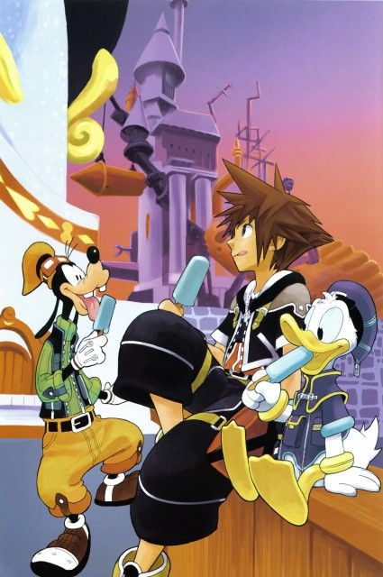 Shiro Amano, Square Enix, Art Works Kingdom Hearts, Kingdom Hearts, Donald Duck