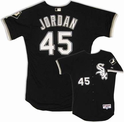 Chicago White Sox Michael Jordan 45 Black Authentic Jersey Sale