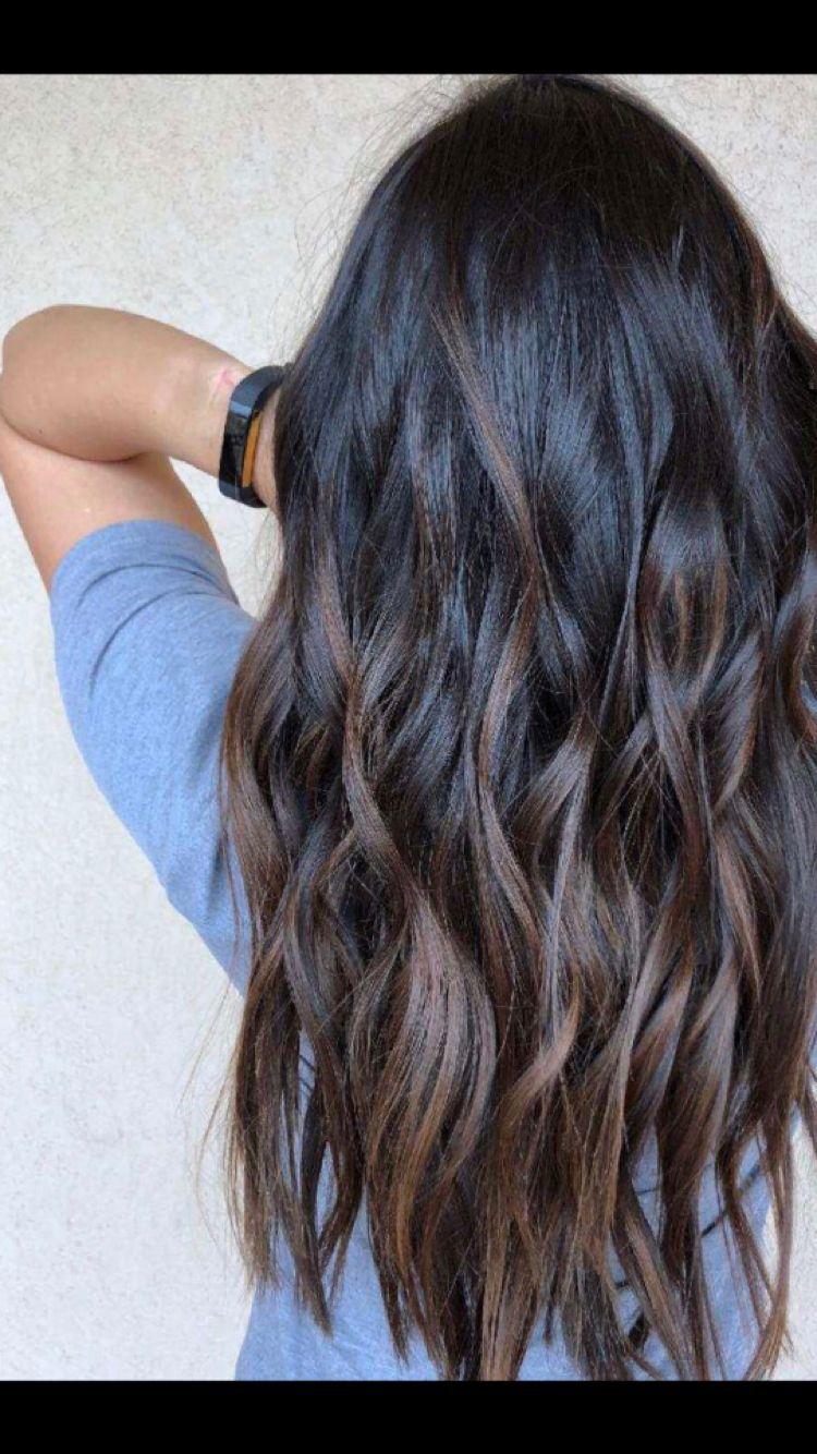 Full Balayage By Mary Joy Maryxjoy Com Brunette Asian Hair Black Hair Long Hair Beach Waves Beachy Waves Black Hair Balayage Hair Styles Balayage Hair