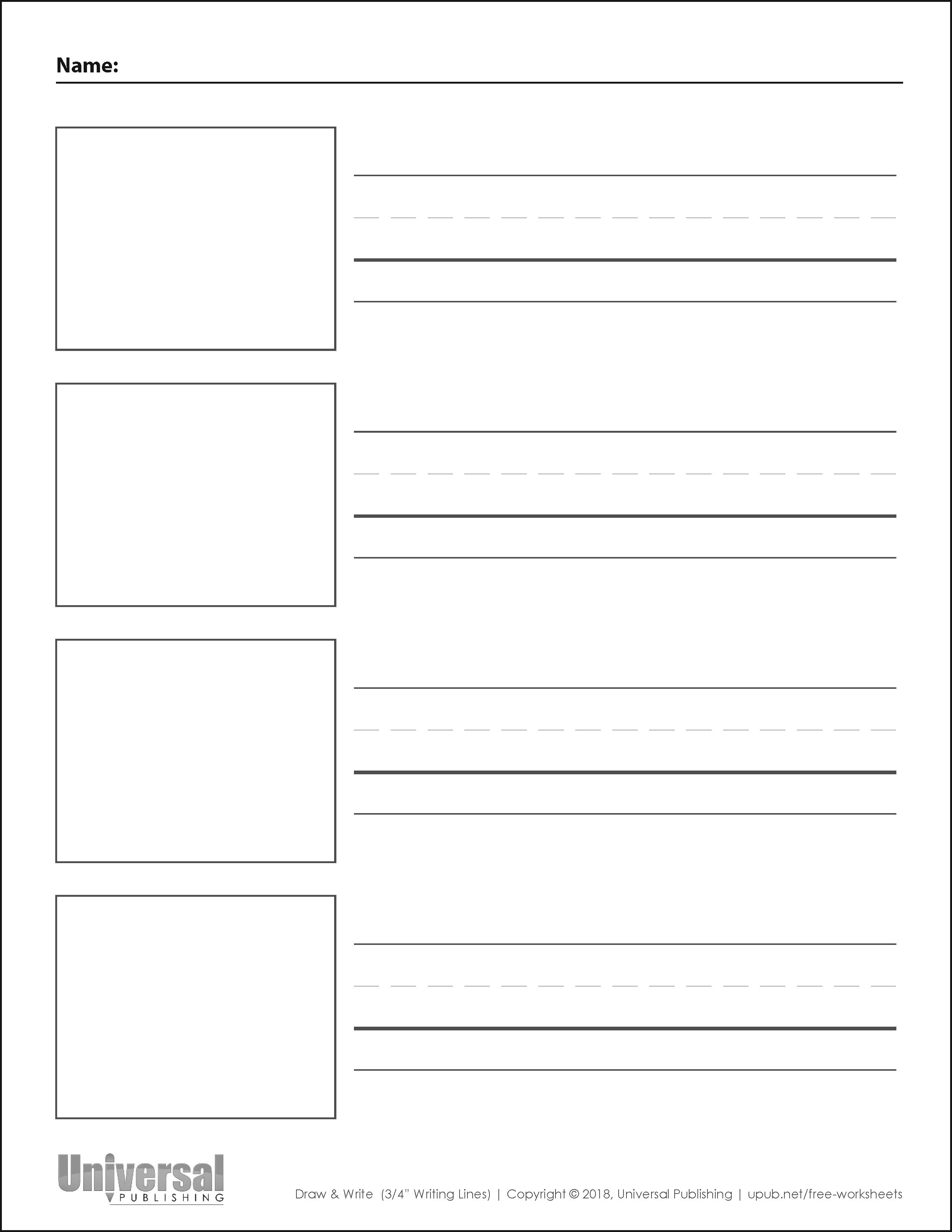 Draw Write Paper Free Printables Universal Publishing Writing Paper Printable Kindergarten Writing Paper Writing Printables Read write draw printables