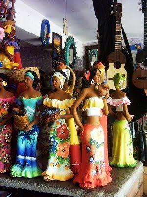 Fíguras de arcilla, hechas por manos artesanas venezolanas