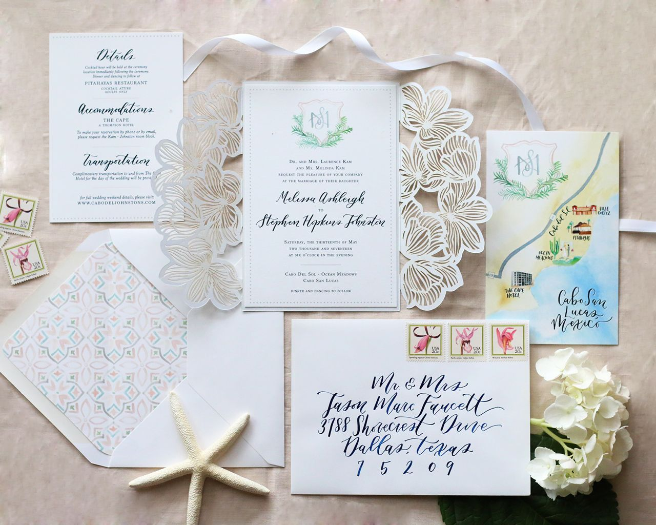 Cabo San Lucas Destination Wedding Invitations by