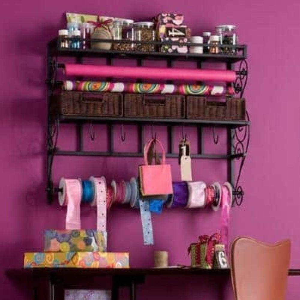 Delicieux Upton Home Burnet Espresso Hanging Craft Paper Dispenser Wall Mount Storage  Rack