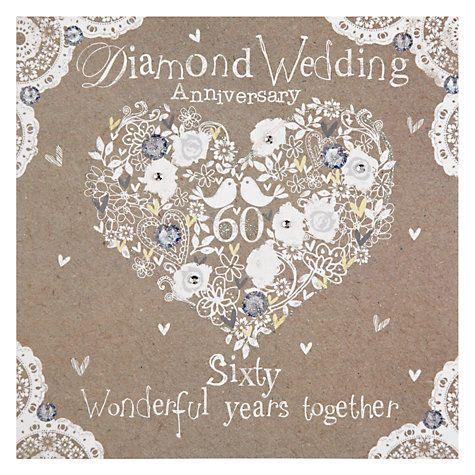 Hammond Gower Diamond Anniversary Card Diamond Wedding Anniversary Cards Anniversary Cards Diamond Anniversary