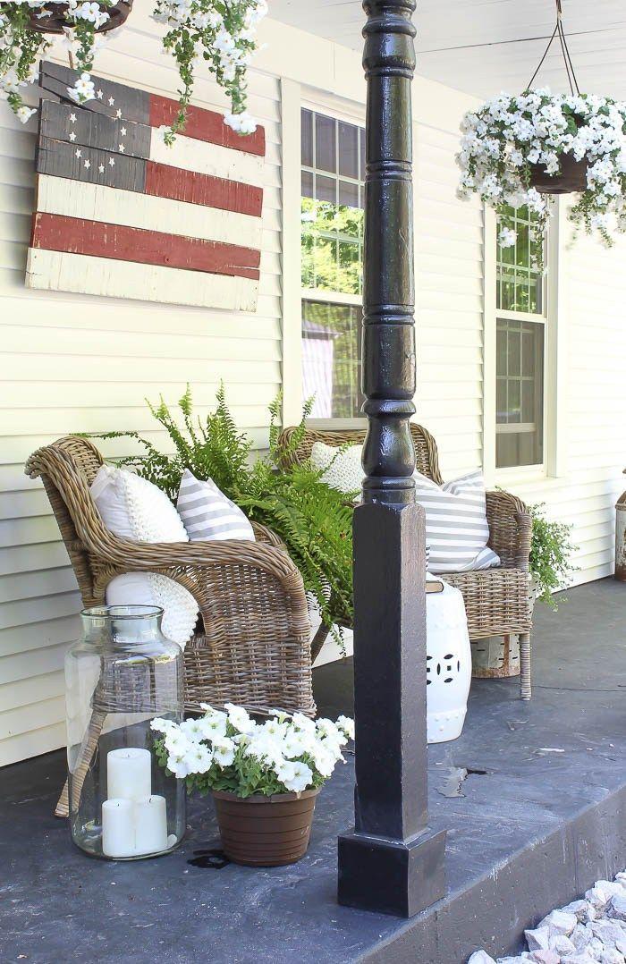 front porch decorating Porches~ Pinterest Entrada, Ideas y
