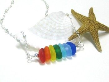relish anklet lrg beach sterling silver chain bracelets multi inc categories colored anklets store jewelry sea glass bg