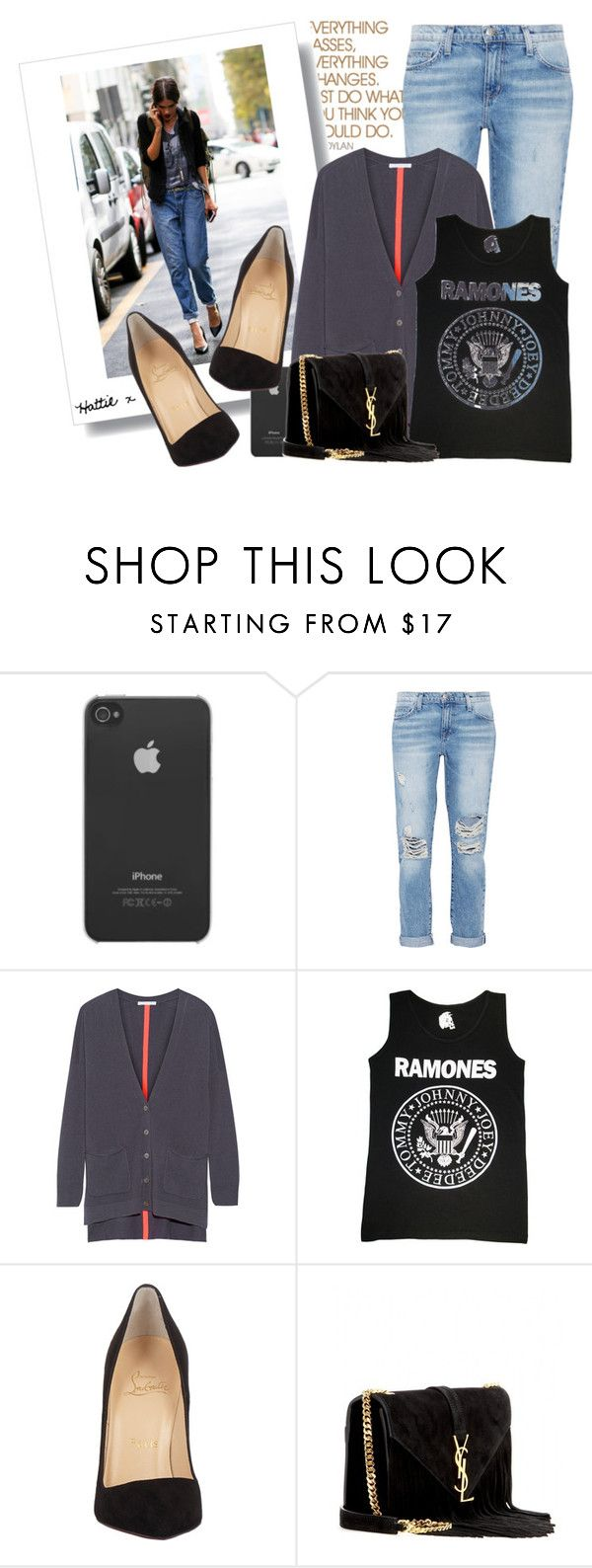 Street Style - Get The Look by hattie4palmerstone on Polyvore featuring мода, Duffy, Current/Elliott, Christian Louboutin, Yves Saint Laurent, Incase, christianlouboutin, amazon, saintlaurent and currentelliott