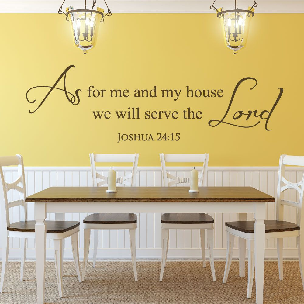 Scripture Wall Decals - Christian Stickers - Bible Quotes - Joshua ...