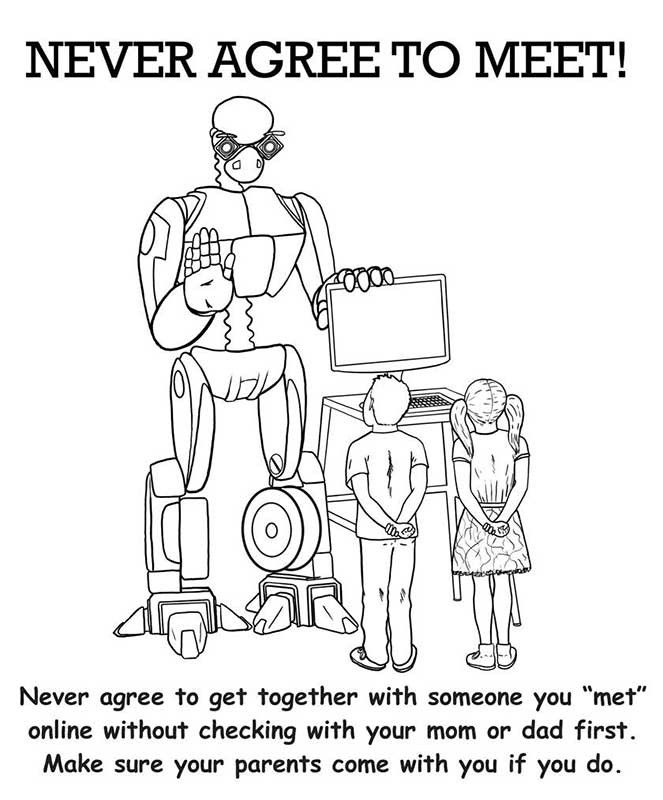 computer safety coloring pages free | Internet Safety Coloring Page429969 coloring for kids ...