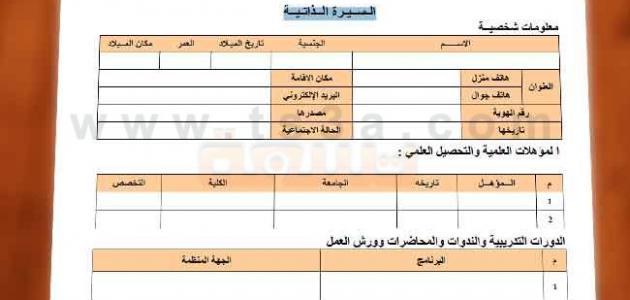 صور انشاء سيرة ذاتية باللغة العربية Periodic Table Grid Lines Grid