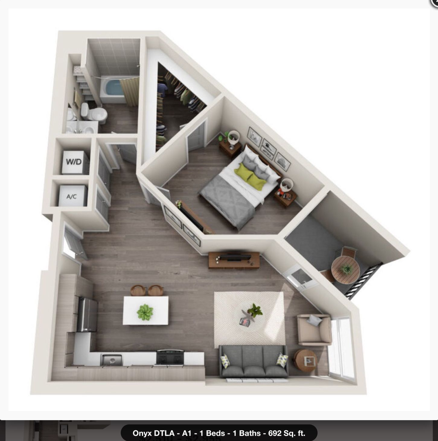 Triugolnyj Small House Plans Small Apartment Design Apartment Layout
