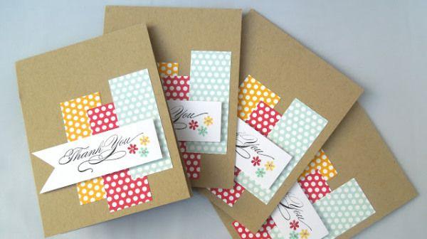 Stamp a stack! Tarjetas, Tarjetas creativas y Papel - tarjetas creativas