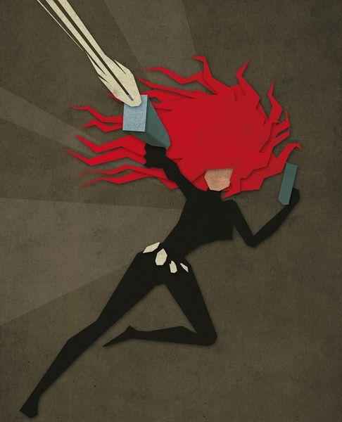 Paper Heroes - Black Widow2  by Greg-guillemin