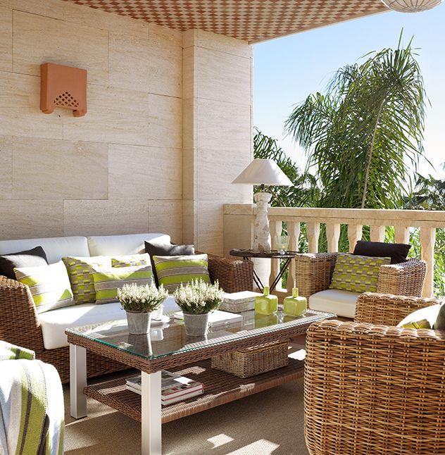 Terrazas peque as 6 balcones terrazas y patios pinterest terrazas hogar y decorar - Decoraciones de exteriores ...
