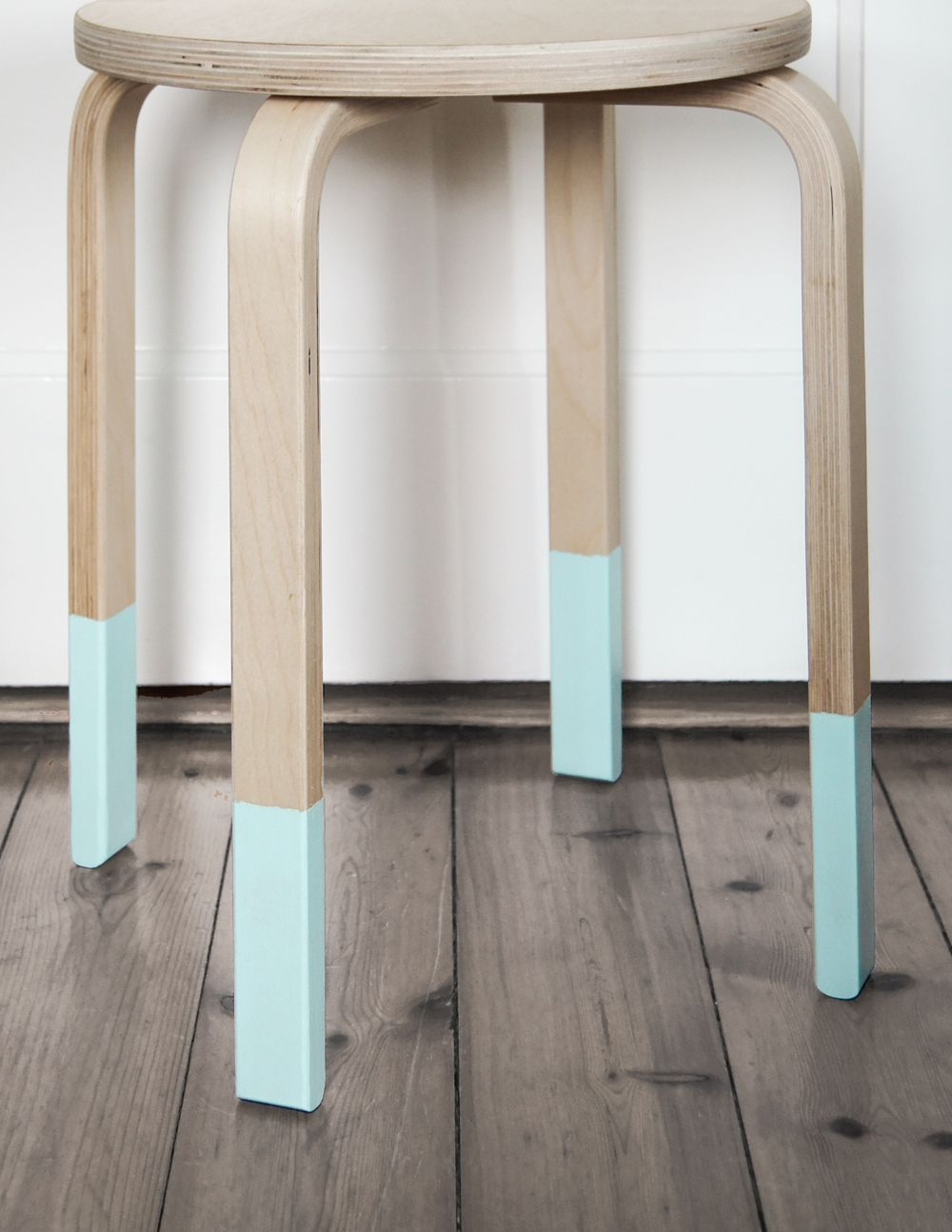 Pastell Holz Hocker Upcycling In Mint Ikea Pinterest Shabby