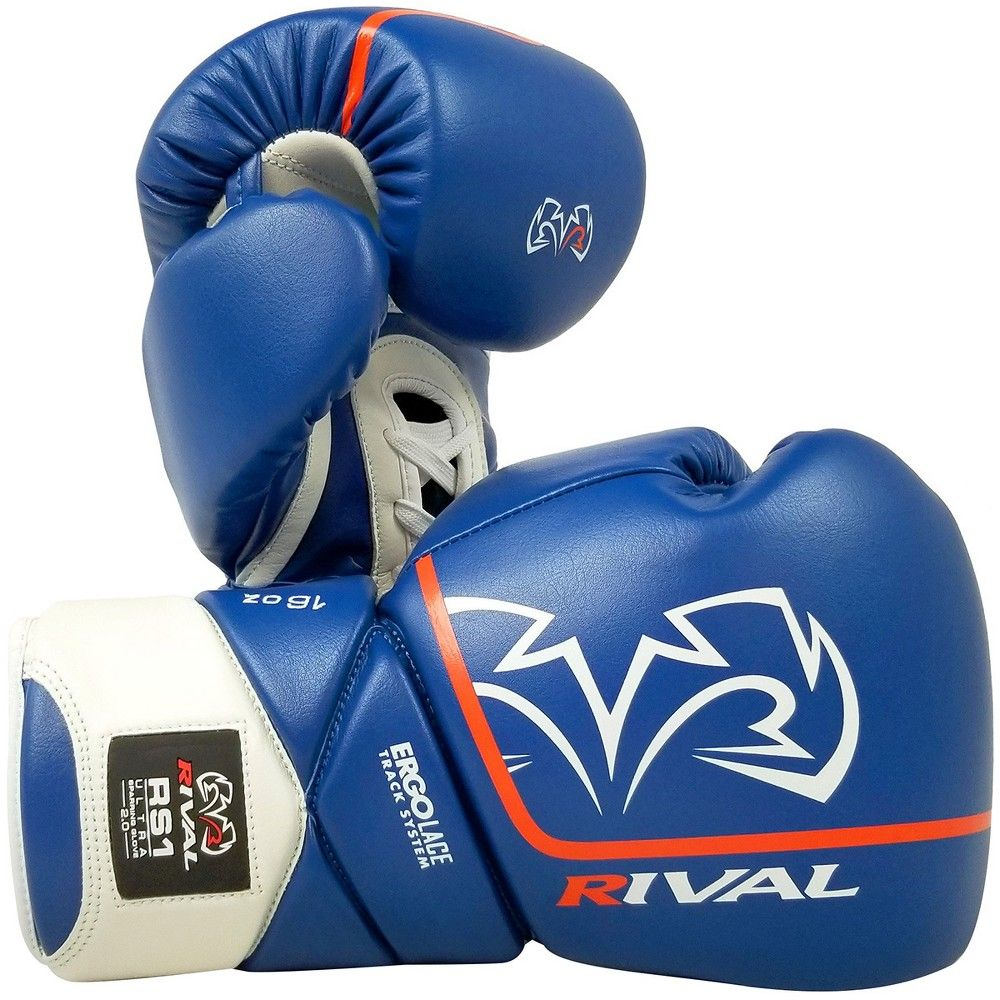 Rival Boxing RB1 2.0 Ultra Hook and Loop Bag Gloves Blue