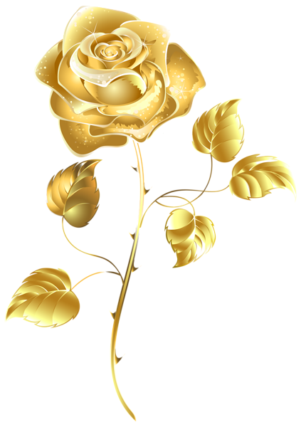 Beautiful Gold Rose Png Clip Art Image Flower Art Rose Clipart Rose Gold Wallpaper