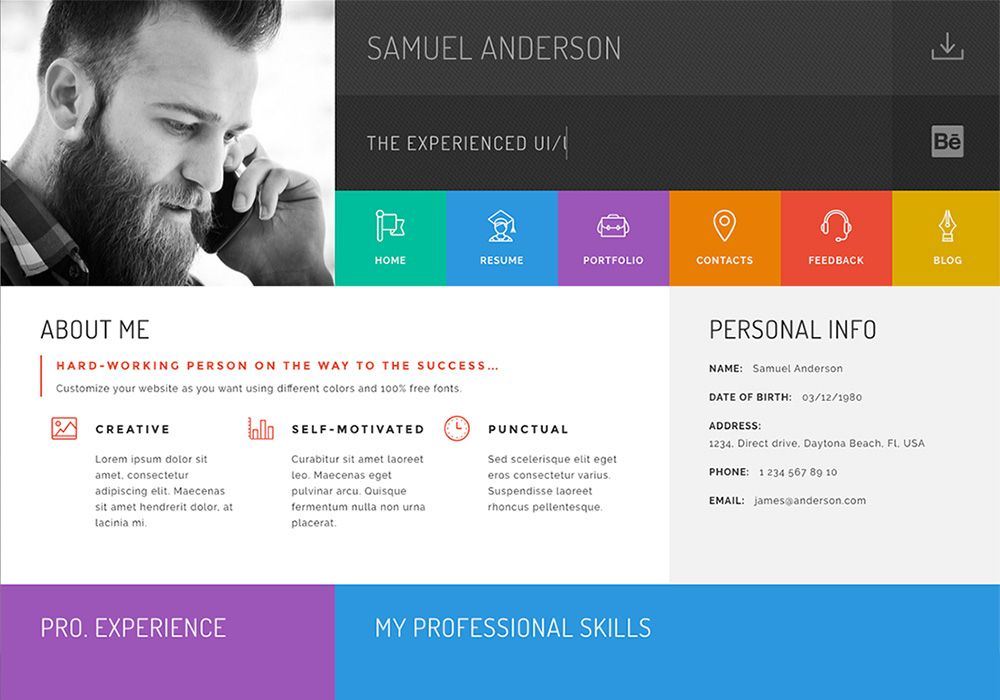Online Cv Resume Website Templates Online Resume Website Online Resume Creative Resume