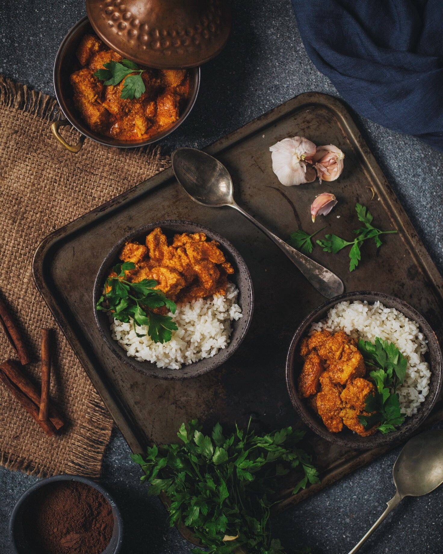 Indian Chicken Curry Food Photography