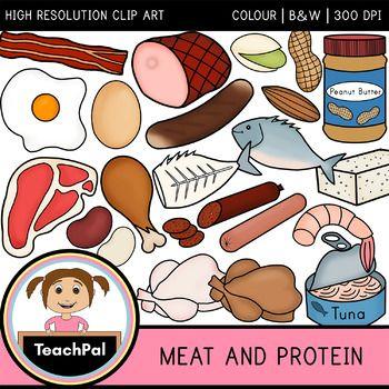 Meat And Protein Clip Art Food Groups Cute Food Art Clip Art Dental Health Preschool Crafts